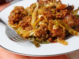 Beef and cabbage saute