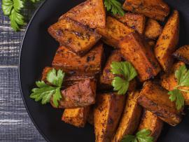 chili roasted sweet potatoes holiday recipe