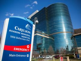 Carilion Roanoke Memorial Hospital ED emergency entrance