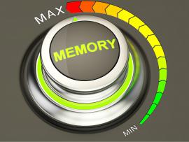 a button that says memory with a minimum and maximum setting to improve memory