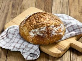 rustic bread loaf homemade