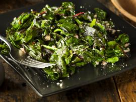 a plate of delicious Swiss chard