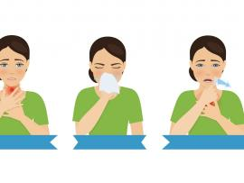 illustration of 5 women demonstrating symptoms of respiratory conditions